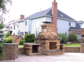 Brick Fireplace 2 o