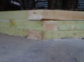 wood retaining wall 1 o