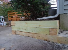 wood retaining wall 2 o