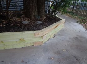 wood retaining wall 3 o