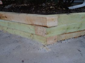 wood retaining wall 4 o
